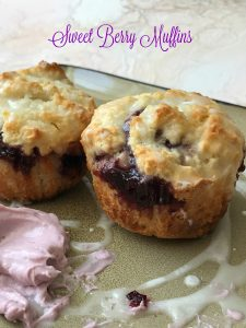 sweet berry muffins