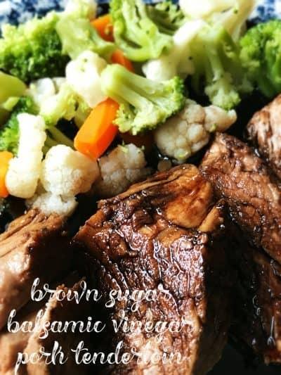 Brown Sugar Balsamic Glazed Pork Tenderloin