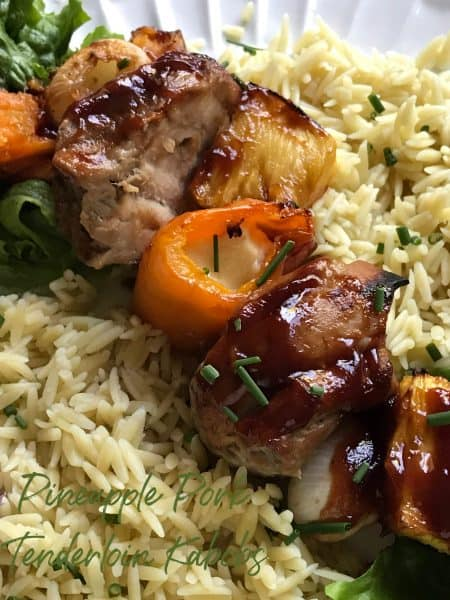 Pineapple Pork Tenderloin Kabobs