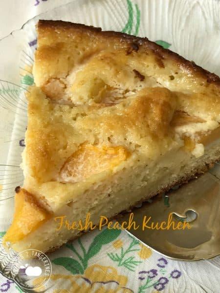 Fresh Peach Kuchen, German Peach Cake