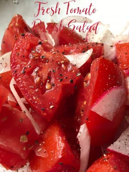 fresh tomato radish