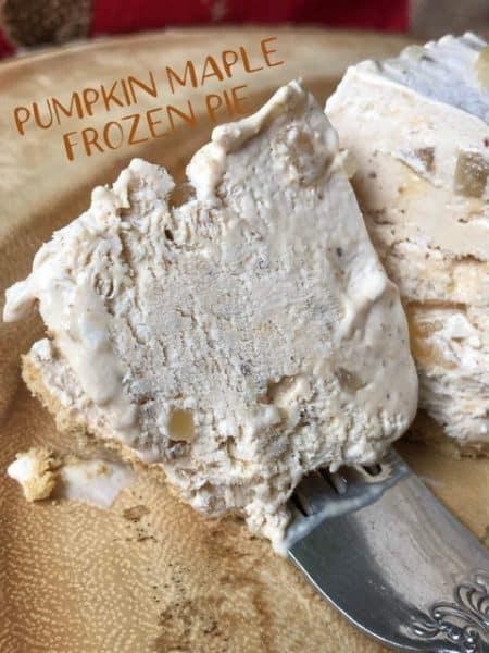 Pumpkin Maple Frozen Pie