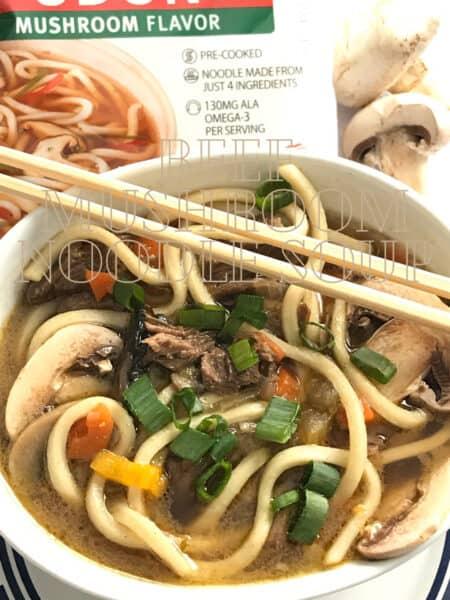Beef Mushroom Noodle Soup