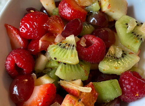 Honey Lime Simple Fruit Salad