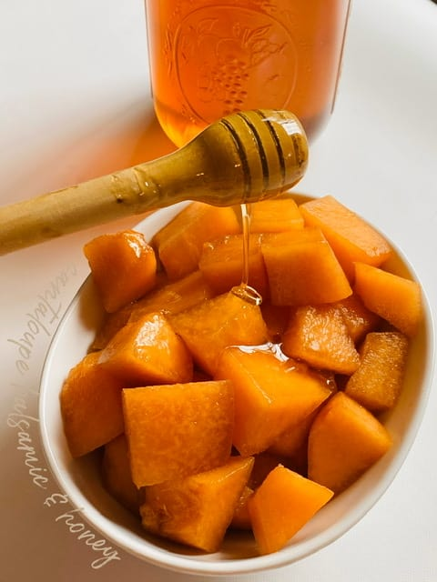 cantaloupe with honey