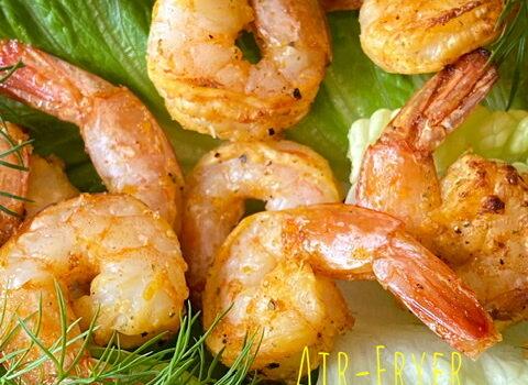 Air-Fryer Lemon Pepper Shrimp