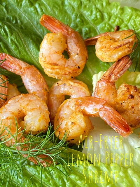 Air-Fryer Lemon Pepper Shrimp