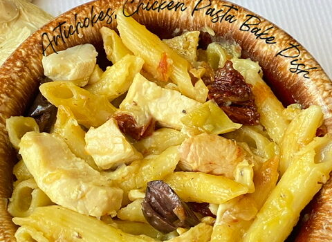 Artichoke, Chicken and Pasta Bake Dish