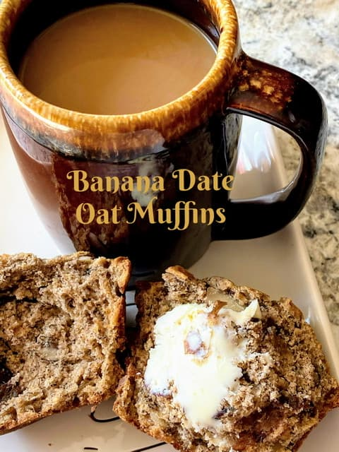 Banana Date Oat Muffins