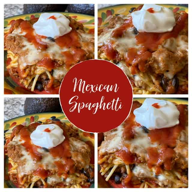 Mexican Baked Spaghetti