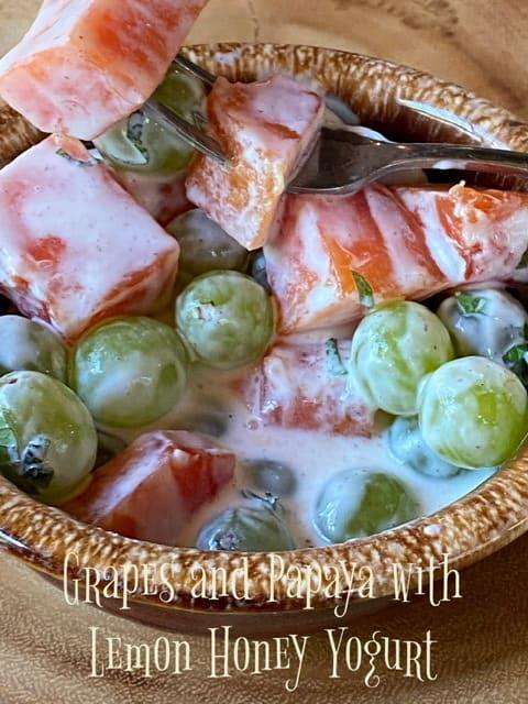 grapes and papaya