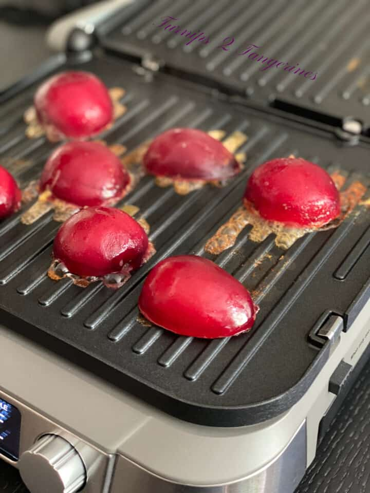 grilled plums