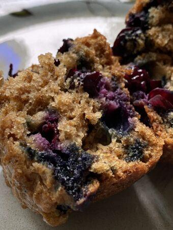 fresh blueberry bran